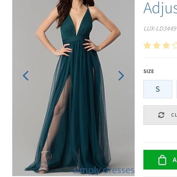 873cc7fc V-neck long prom dress with adjustable straps. M_5c2e93b64ab63387d16cd329